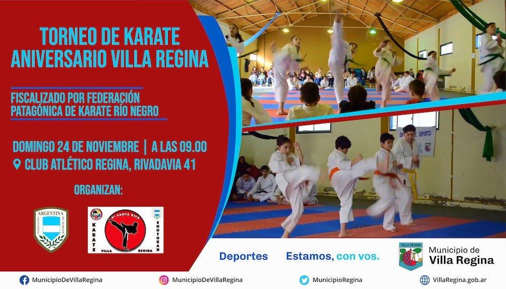 Se viene el Torneo de Karate Aniversario en Regina