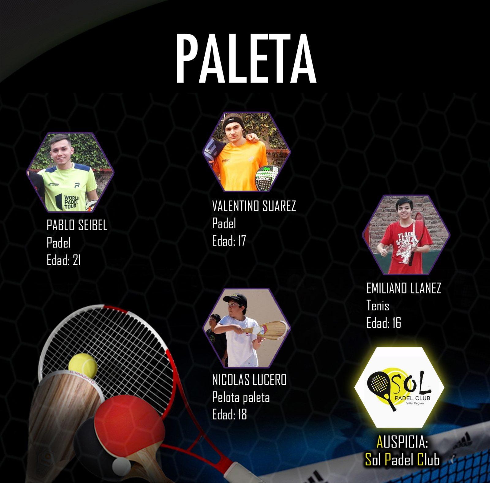PREMIOS DEPORTIVOS E-TAPAS 2019/DEPORTES DE PALETA