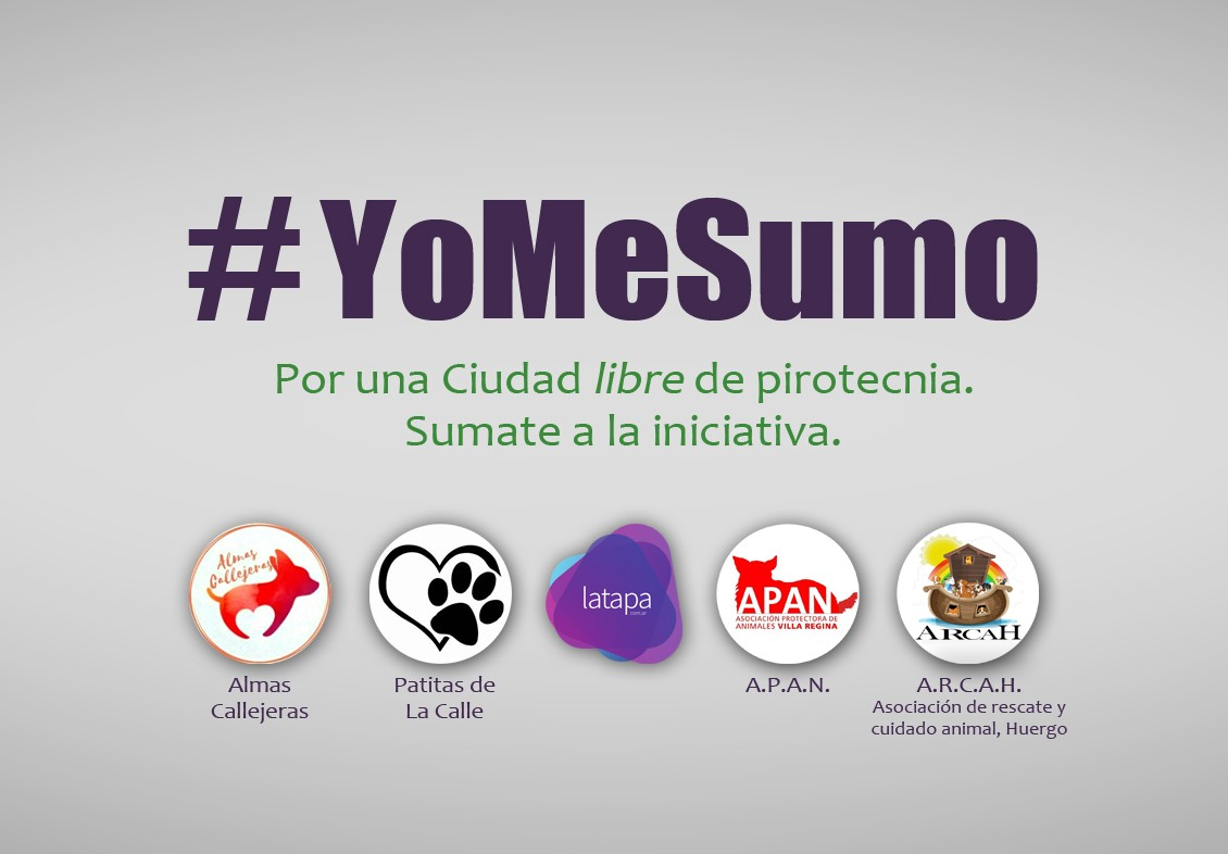 #YOMESUMO REGINA LIBRE DE PIROTECNIA