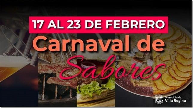 CARNAVAL DE SABORES EN VILLA REGINA