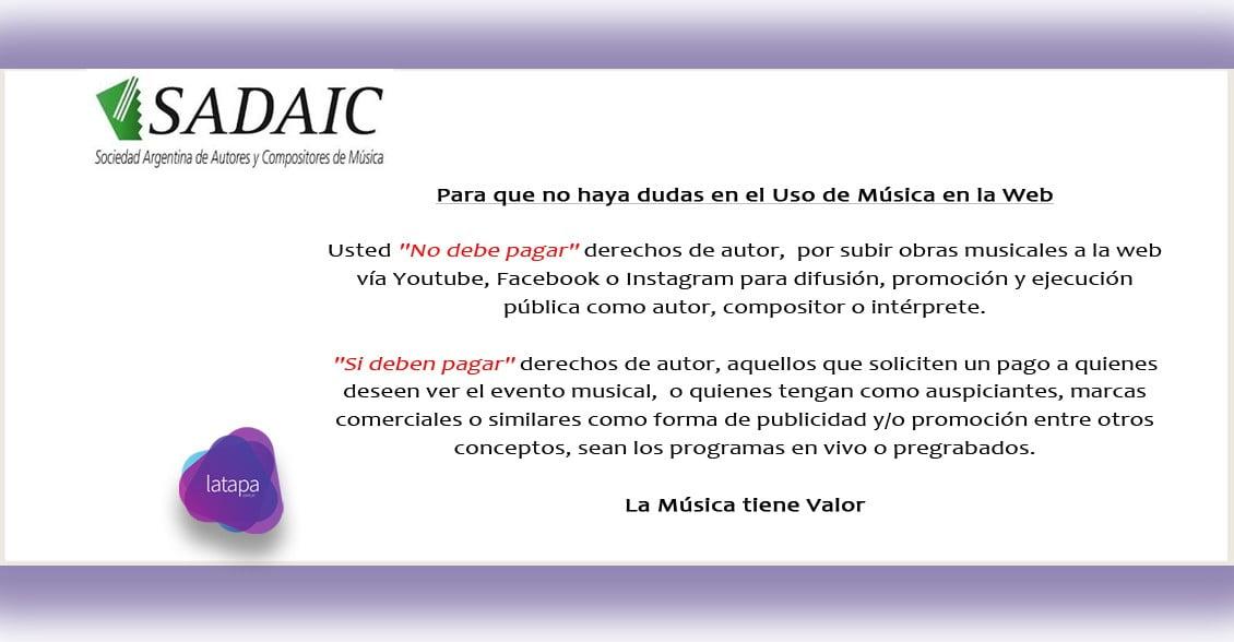 SADAIC: Para que no haya dudas en el Uso de la Música en la Web