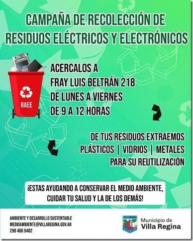 Recolección de residuos eléctricos y electrónicos en marcha