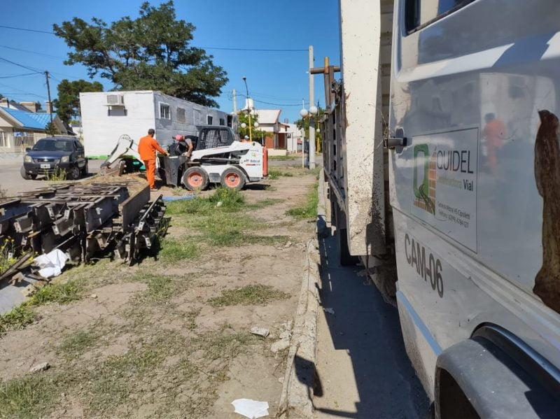 Se instaló el obrador de la empresa que ejecutará la obra de calle Libertad