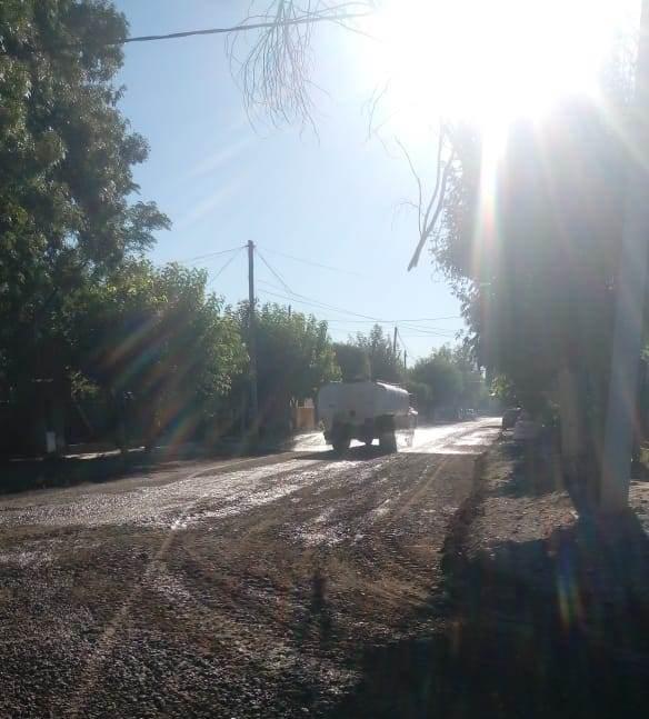 Limpieza y acondicionamiento de calles en barrio Matadero