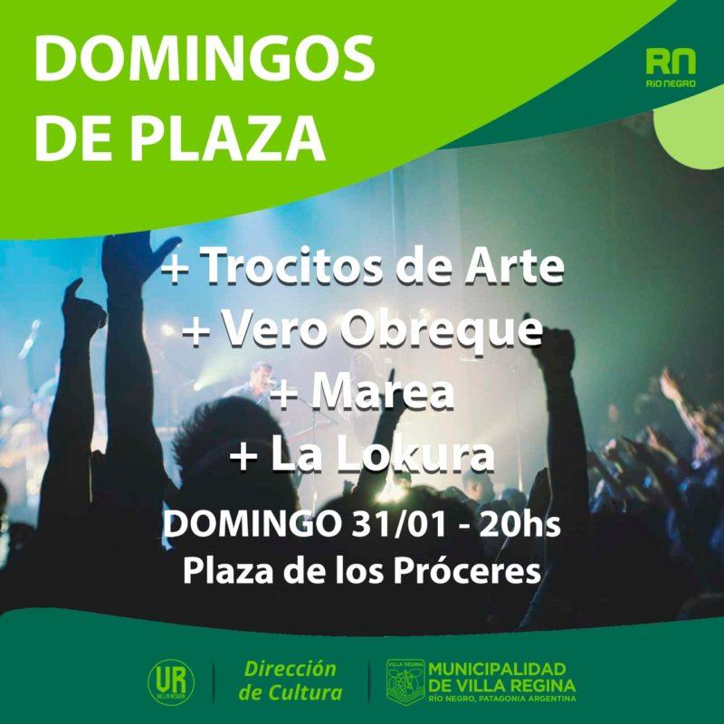 Música, arte y solidaridad en este domingo de plaza