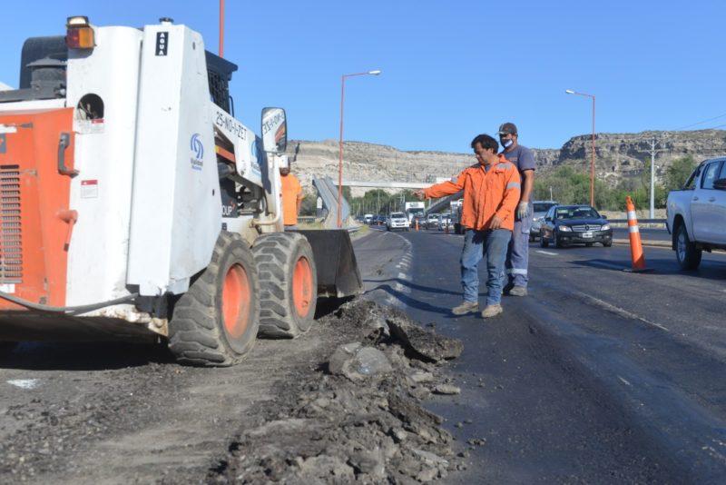 Tras las gestiones del Intendente Orazi, Vialidad Nacional trabaja en ruta 22 y Pioneros