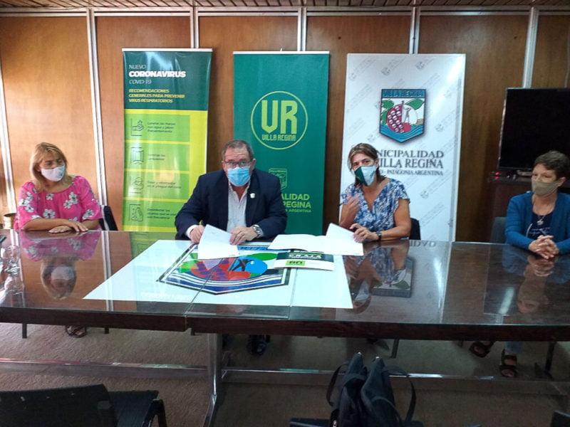 Orazi firmó convenio para contar con un centro de abordaje de adicciones