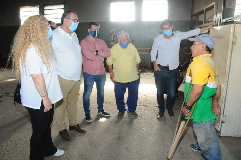 Orazi visitó instituciones junto a los Ministros Buteler y Deco