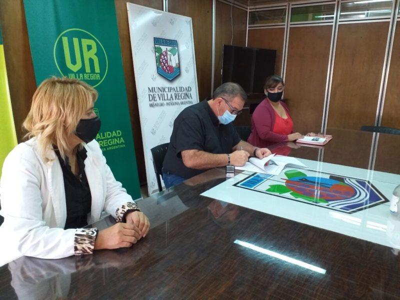 Orazi firmó convenio con el Instituto Crecer