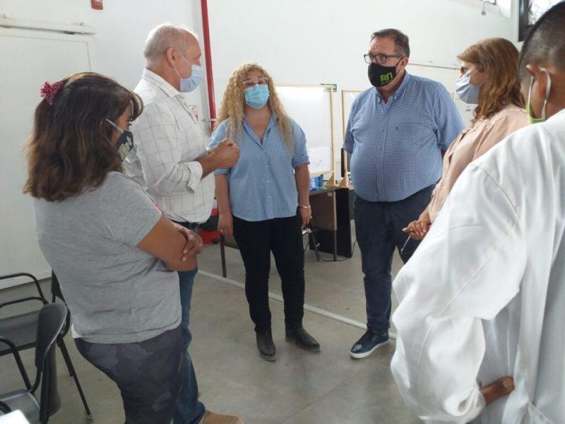 COVID-19: Orazi y Zgaib visitaron el vacunatorio
