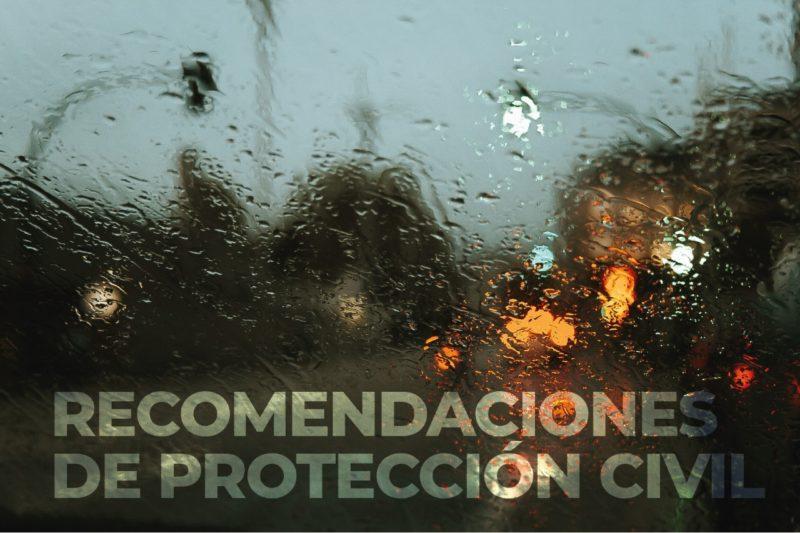 Recomendaciones de Protección Civil ante lluvias intensas