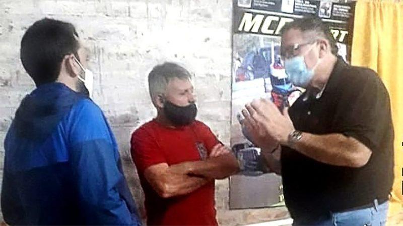 Orazi visitó el Motoclub Reginense