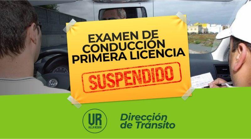 Tránsito: se suspenden los exámenes previstos para hoy para tramitar la primer licencia