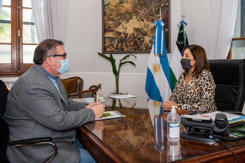 Orazi fue recibido por la Gobernadora Carreras
