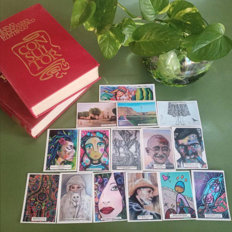 Señaladores con obras de artistas plásticos reginenses