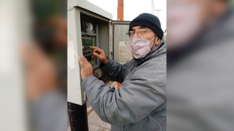 Agradecimiento a Luis Santos por su donación de equipos para semáforos