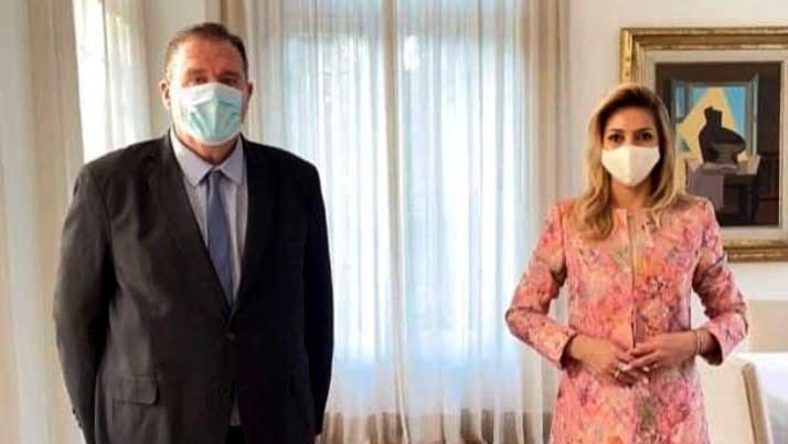 Orazi se reunió con la Primera Dama: anunciaron la construcción de un vacunatorio pediátrico