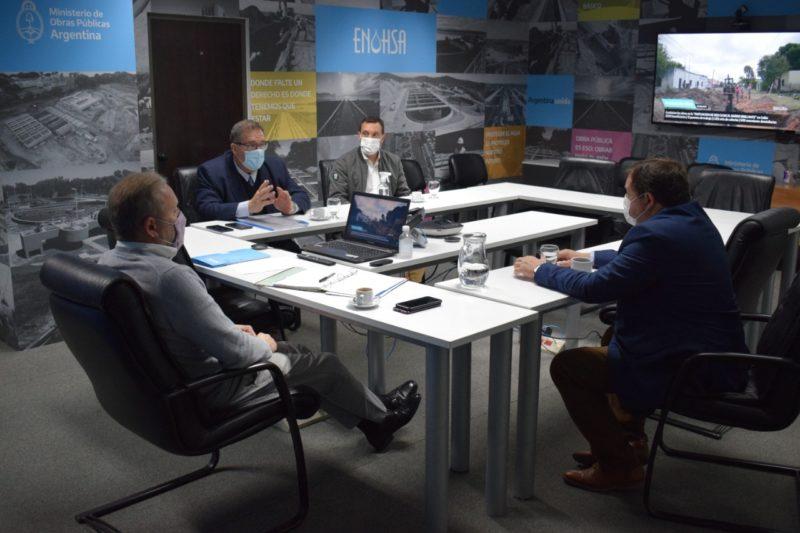 Orazi analizó avance de proyectos presentados en el ENOHSA