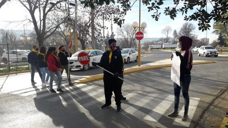 Tránsito: campaña para promover el respeto hacia los peatones