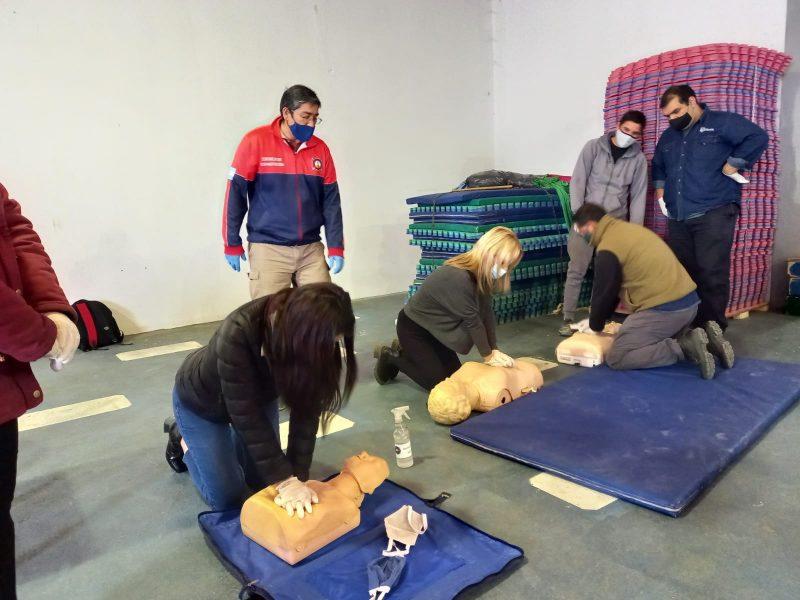 Personal municipal se capacitó en RCP y primeros auxilios