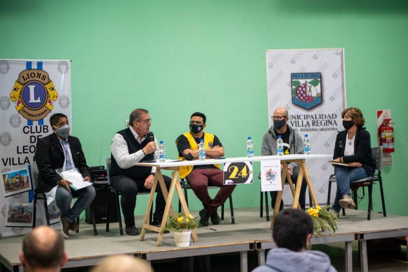 Orazi participó de la presentación del 'Pedaleando por un sueño'